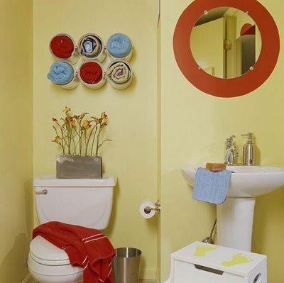 decoracao de banheiro simples e criativa