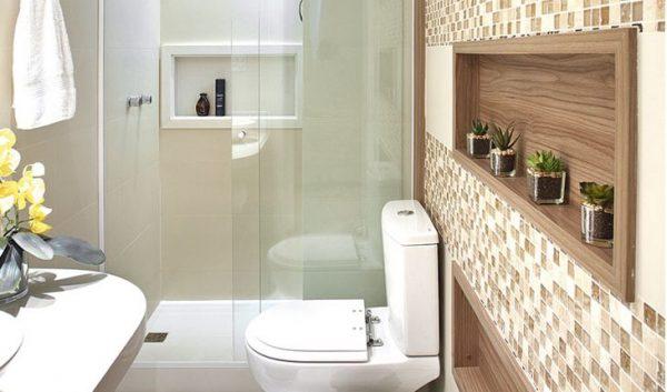 decoracao de banheiro com nich umbutido