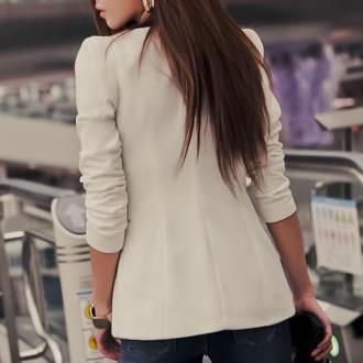 blazer social feminino branco