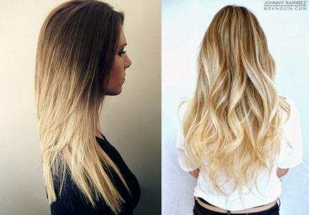 cabelos com luzes e longos