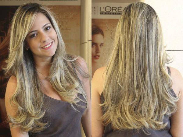 cabelos lindos longos com luzes