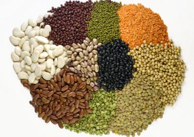 varios cereais com proteinas
