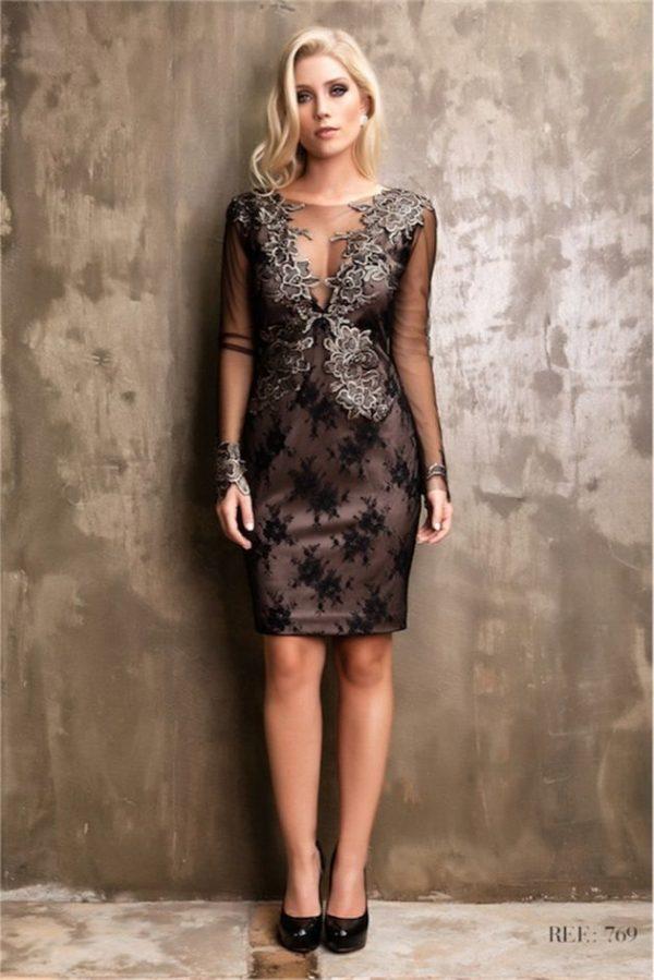 vestido de festa online preto