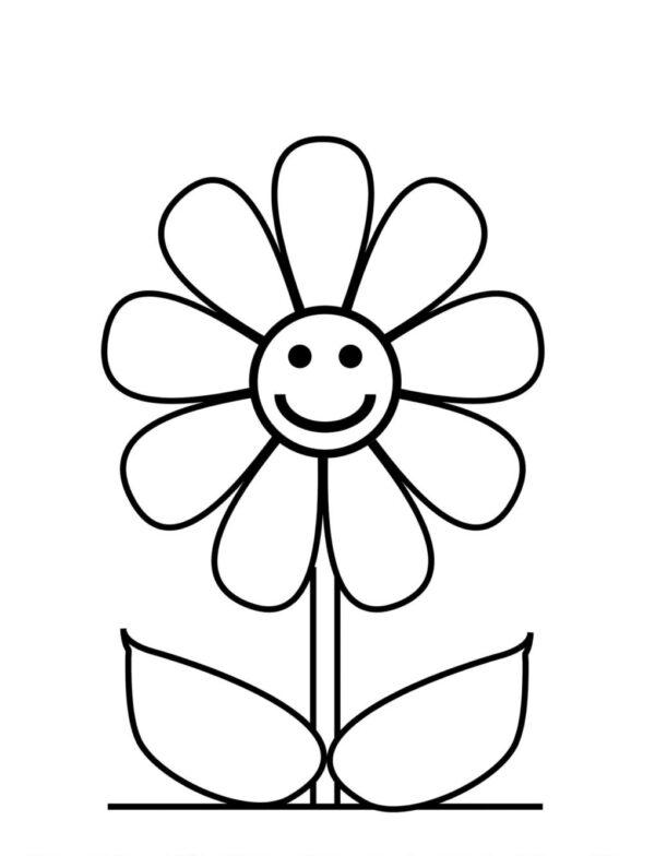 desenho de flor para pintar