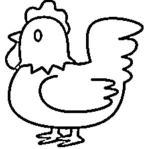 galinha para pintar