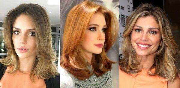 corte médio de cabelo feminino